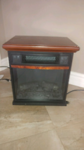 Infrared heater with calming flame