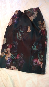 Floral Pencil Skirt Size 12 by H&M