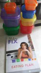 21 day fix containers and book