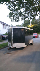 "14 ft ""V"" nose enclosed trailer"