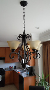 Kitchen chandelier with pendants