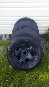 Michelin X ice tires with rims 225,