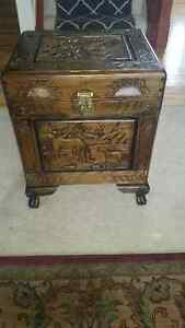 Beautiful hand crafted wooden chest set.