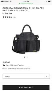 Chelsea Downtown Chic Diaper Bag Satchel-Black