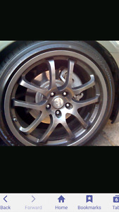 19 inch infiniti rays g35 coupe  forged rims  MINT 10/10 5x114.3