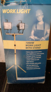 Work light with stand $50. OBO