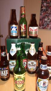 Beer bottle collection/ Bouteilles de bière à collectionnes