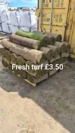 Fresh turf.