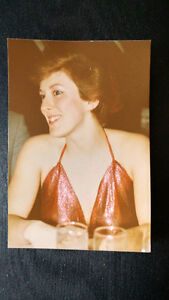Red Sequence, halter top.