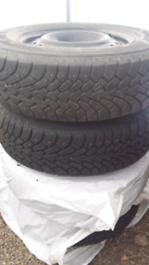 205/70R15 Winter rims and tires