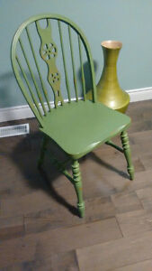 4 Vintage dining room chairs - Green Kitchener / Waterloo Kitchener Area image 1