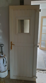 White uPVC Door and Frame. 770 x 2040 Approx