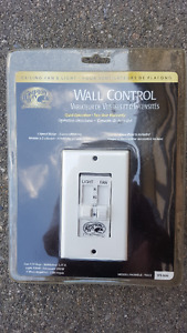Light and Fan Dual Wall Switch