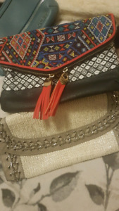 CLUTCH PURSES LOT WITH GUESS WALLET