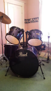 5pc midnight blue pearl target series drum set