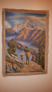 Original Nepal Oil Paintings Vancouver Greater Vancouver Area image 2