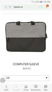 Bench computer sleeve.