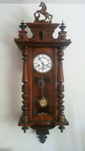 Large Antique 1892 Gustav Becker Wall Clock
