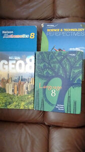 Grade 8 textbooks- Math, Science, Language, Geograhy