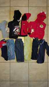 Lot (58 articles) of boys clothes 9 months to 2 T -
