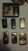 Older cell phones and accessories