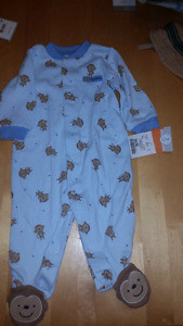 NB -3month boys sleepers new with tags
