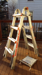 Litlle Giant Articulating  Ladder, Type 1A + Work Platform