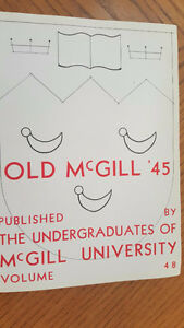 945 OLD MCGILL UNIVERSITY YEARBOOK West Island Greater Montréal image 2