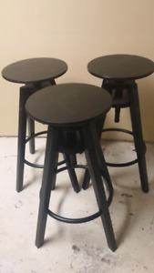 3 Ikea Dalfred bar stools, black, $95