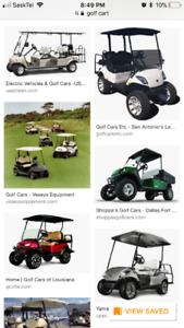 Looking for a gas golf cart