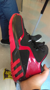 beautiful shoes worn In house twice *black red Adidas*