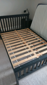 Double bed frame, black