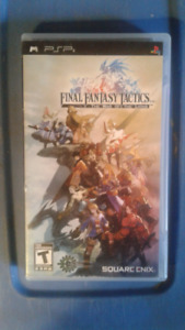 Final Fantasy tactics the war of the lions psp game  pre-owned