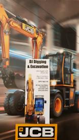 Mini digger and driver hire