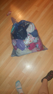 Large bag of baby girl clothes nb -12 months