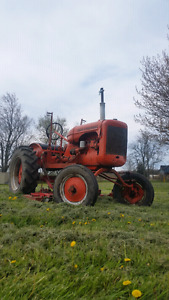 39' Allis Chalmers B with mower