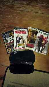 PSP WITH 2 MOVIES AND 2 GAMES