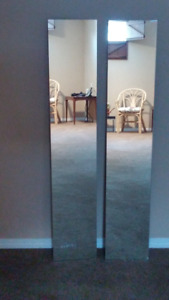 Eight decorative mirrors with hardware  PRICE REDUCED
