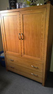 Armour Dresser, Dresser, Mirror,TV and Coat For Sale!