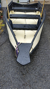 Fold up boat with sail.