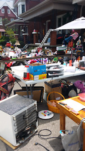 Packing up cheap garage sale