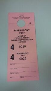 Parking Pass RiverFront Downtown Moncton. Arpil 2017