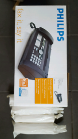 PHILIPS Fax and Telephone with 4 paper rolls NEW IN BOX