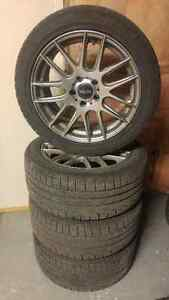 "FS: Moda MD11 17x8"" 5x112 ET32 w/ Pirelli Winter Tires 245/45/17"