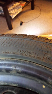 4x 215/50 R17 Hercules avalanche winter Tires on Rims