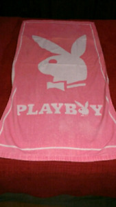 Pink Playboy beach towel $5 takes