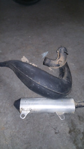 Cr 250 pipe and silencer