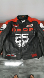 Icon Scull Leather Jacket