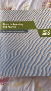 CFA Book: Financial Reporting and Analysis 2010