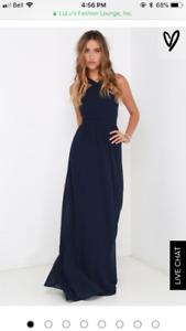 Beautiful and elegant maxi navy blue cocktail dress!